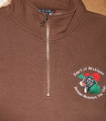 1/4 Zip Sweatshirt Brown