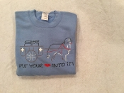 Put Your Heart Into - Short Sleeve T-Shirt - Light Blue