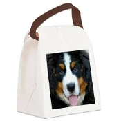 Canvas Lunch Bag/Tote - Puppy Upclose