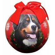 Bernese Mountain Dog Ball Ornament