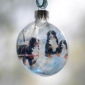 Berners Glass Disk Ornament